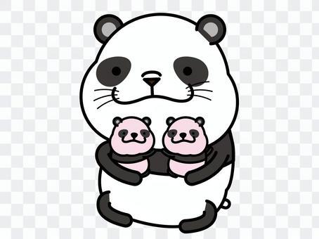 Panda's twin hug