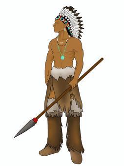 美國原住民的戰士