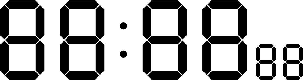 數字鐘面(標準)