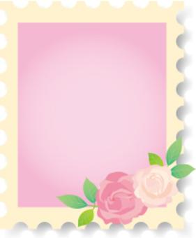 玫瑰郵票幀