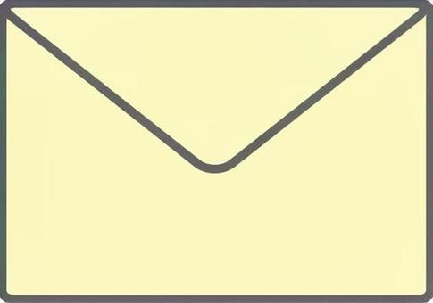 Letter set envelope pale yellow
