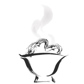 米飯手繪水墨畫2