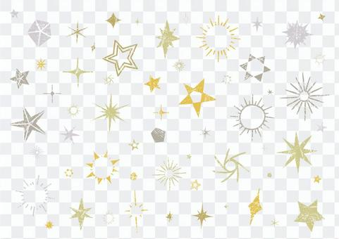 Glittering handwritten variation of stars 1