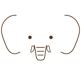 簡單的大象臉(無輪廓)