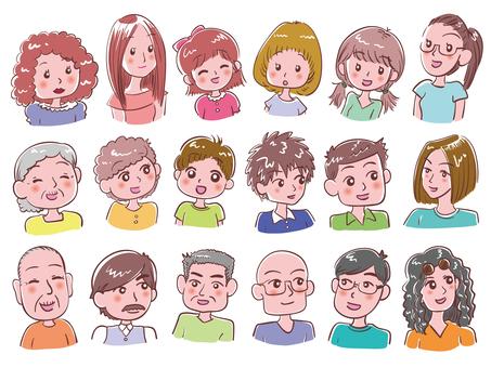 所有年齡的男人和女人_人圖標集