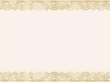 上下框架:花邊米色