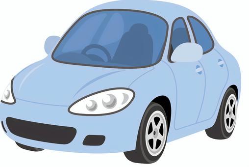 汽車轎車藍