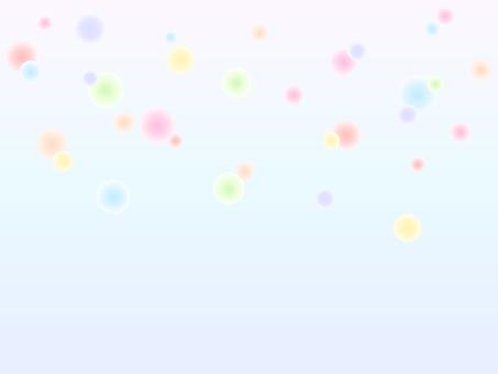 夢幻般的燈光背景_淺藍色系