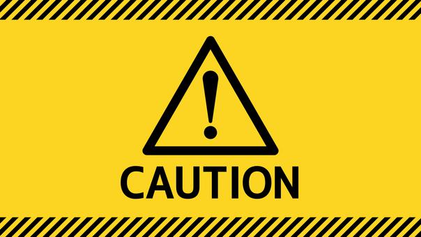 Triangular attention caution! Yellow background full HD