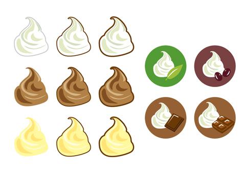 Cream illustration set