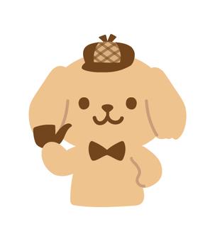 犬の探偵キャラクター