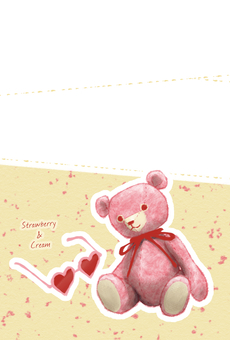 Postcard (Bear) Strawberry & Cree
