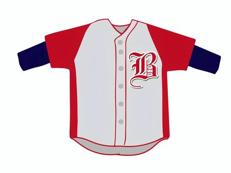 Baseball uniforms and red