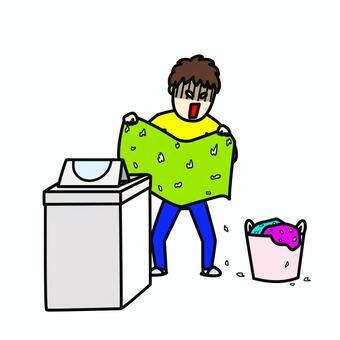 洗衣機男性紙巾