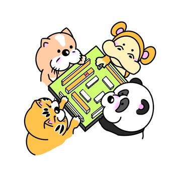 麻將狗猴子熊貓貓