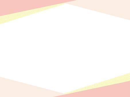 帶有三角形圖案的粉紅色框架背景