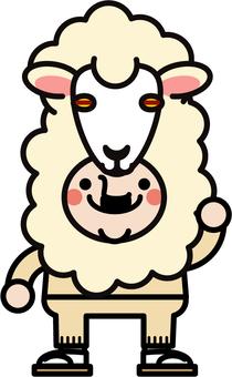 Uncle fairy sheepskin