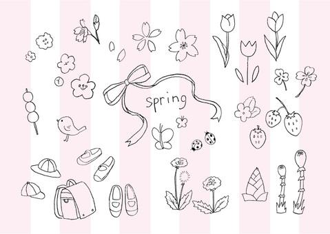 手寫的春天的插圖集