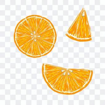 它是一套橙色