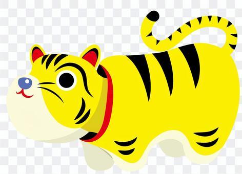 老虎紙型圖
