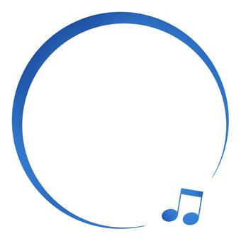 キラキラ青いオンプの丸いフレーム
