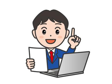弐_パソコン166_スーツ男性書類