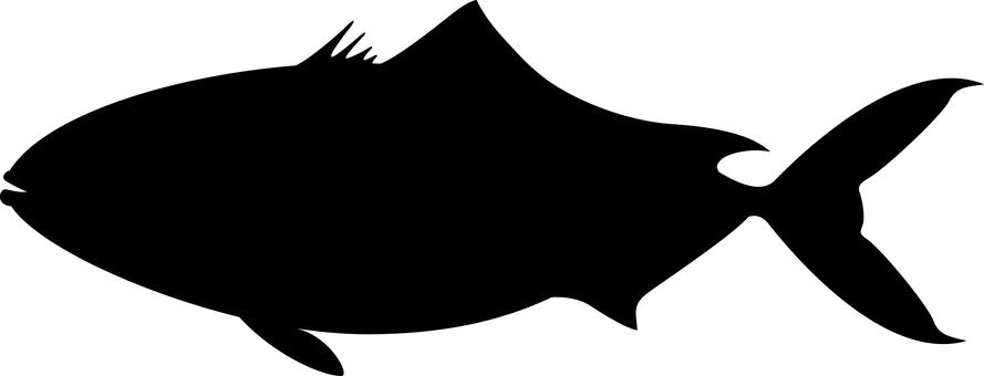魚剪影Buri