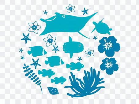 Sea creature stamp