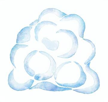 水彩繪畫的雲層