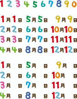 Numbers and dates