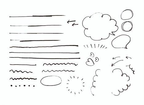 Pen hand drawn material