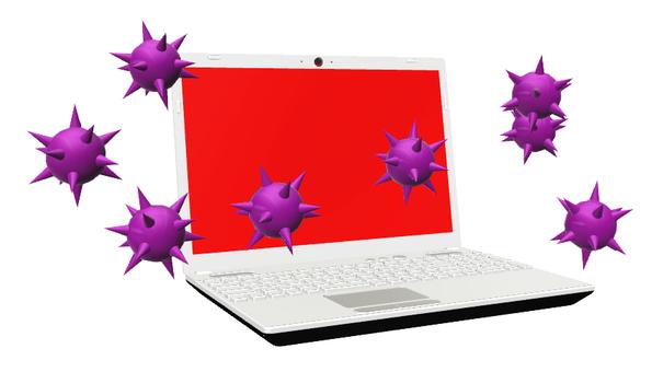 ノートPC コンピュータウイルス