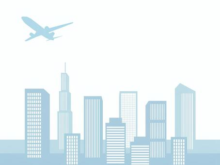 Cityscape (Silhouettes of skyscrapers)