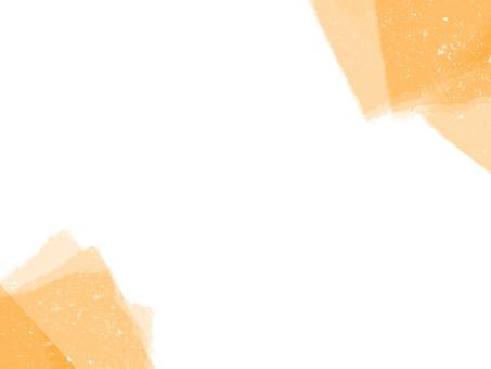 橙色框架日式日本紙背景