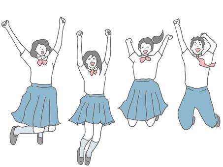 4名初高中生跳