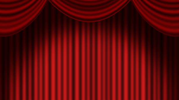 Full HD red stage curtain background