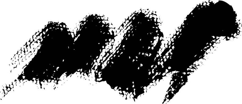 Handwriting one character Bakudan (black)