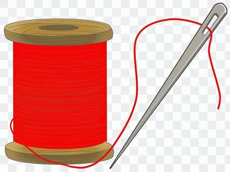 縫紉線和針