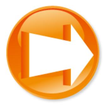 3D箭頭圖標 - 橙色