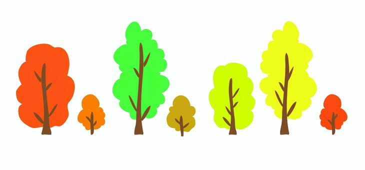 Material trees (street tree · park) autumn