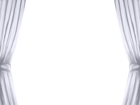 捆綁窗簾白