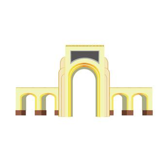 アーチ状の建物