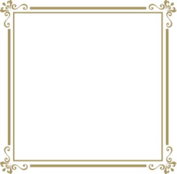 Decorative frame gold