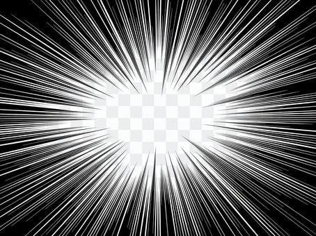 單色卡通表情黑色集中線效果強烈