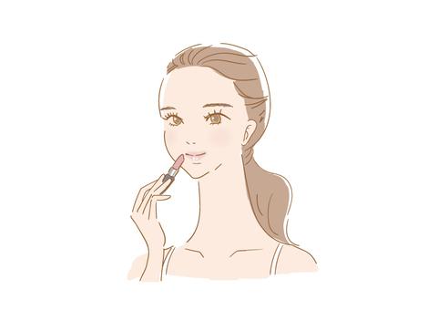 女人化妝(唇)