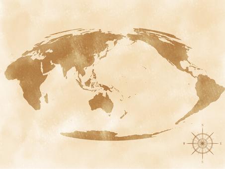 世界地圖復古風格_5