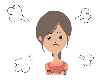 肥滿憤怒的家庭主婦