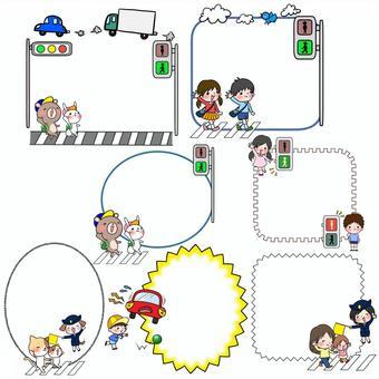 Traffic safety frame memo pad set