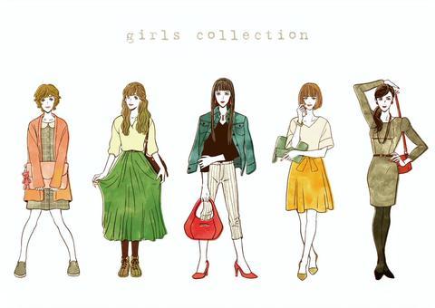 女性時尚顏色ver。