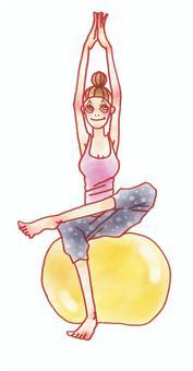 瑜伽女子01